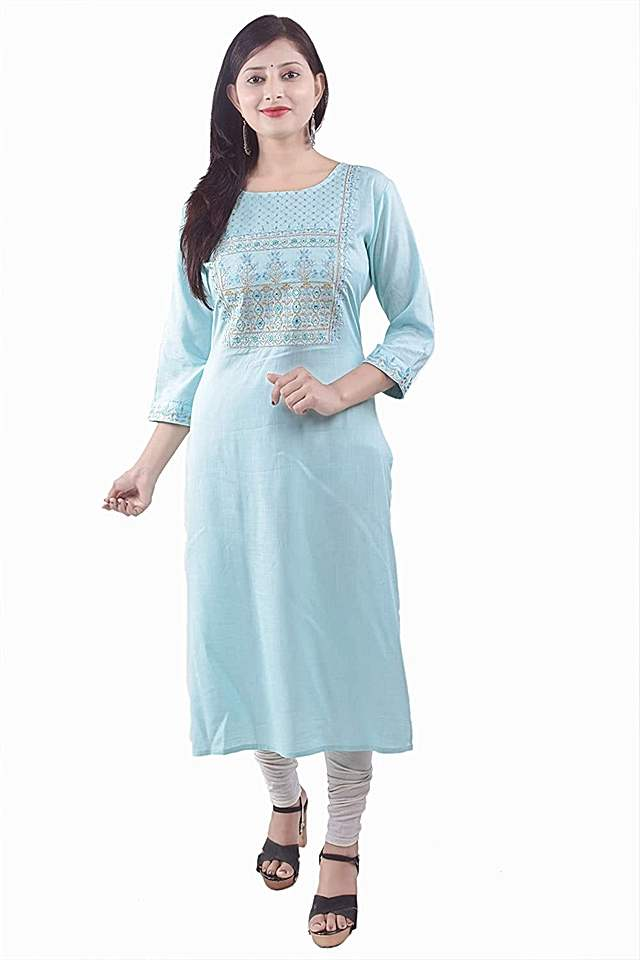 PP Embroidered A-line Kurta